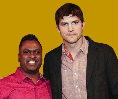 King Raj and Ashton Kutcher