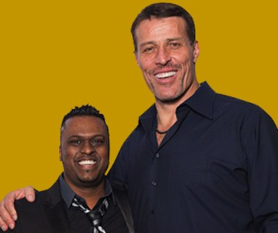 King Raj and Tony Robbins